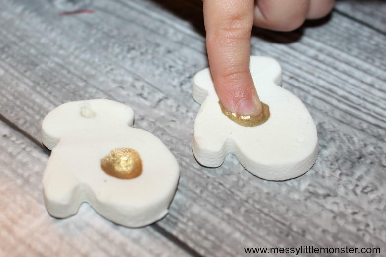 baking soda clay fingerprint ornaments