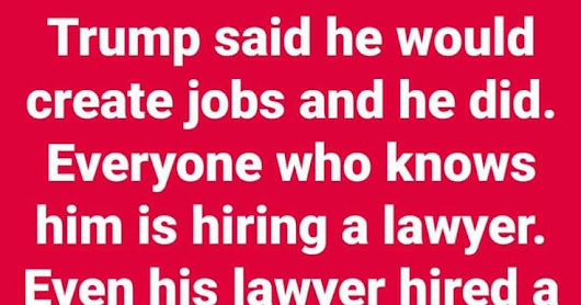Has Trump Set a Record For Employing Lawyers?