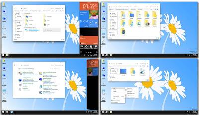 ScreenShot Windows 9 Skin Pack/Theme For Windows 7 and Windows 8