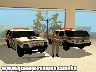 Pack Chevrolet Blazer PMSC + Skin Policia PMSC para GTA San Andreas