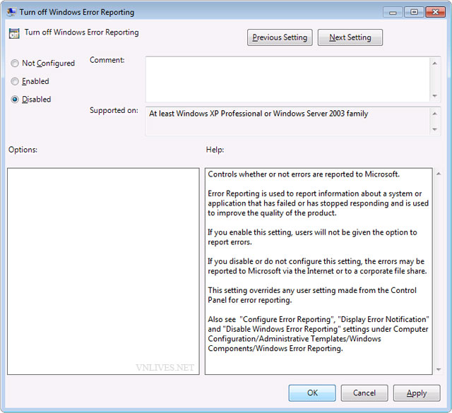 "Fix bug ""Check online for a solution later and close the program."" in Windows 7. 007"