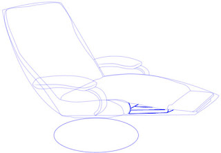 Langkah mudah menggambar Recliner (Sofa)