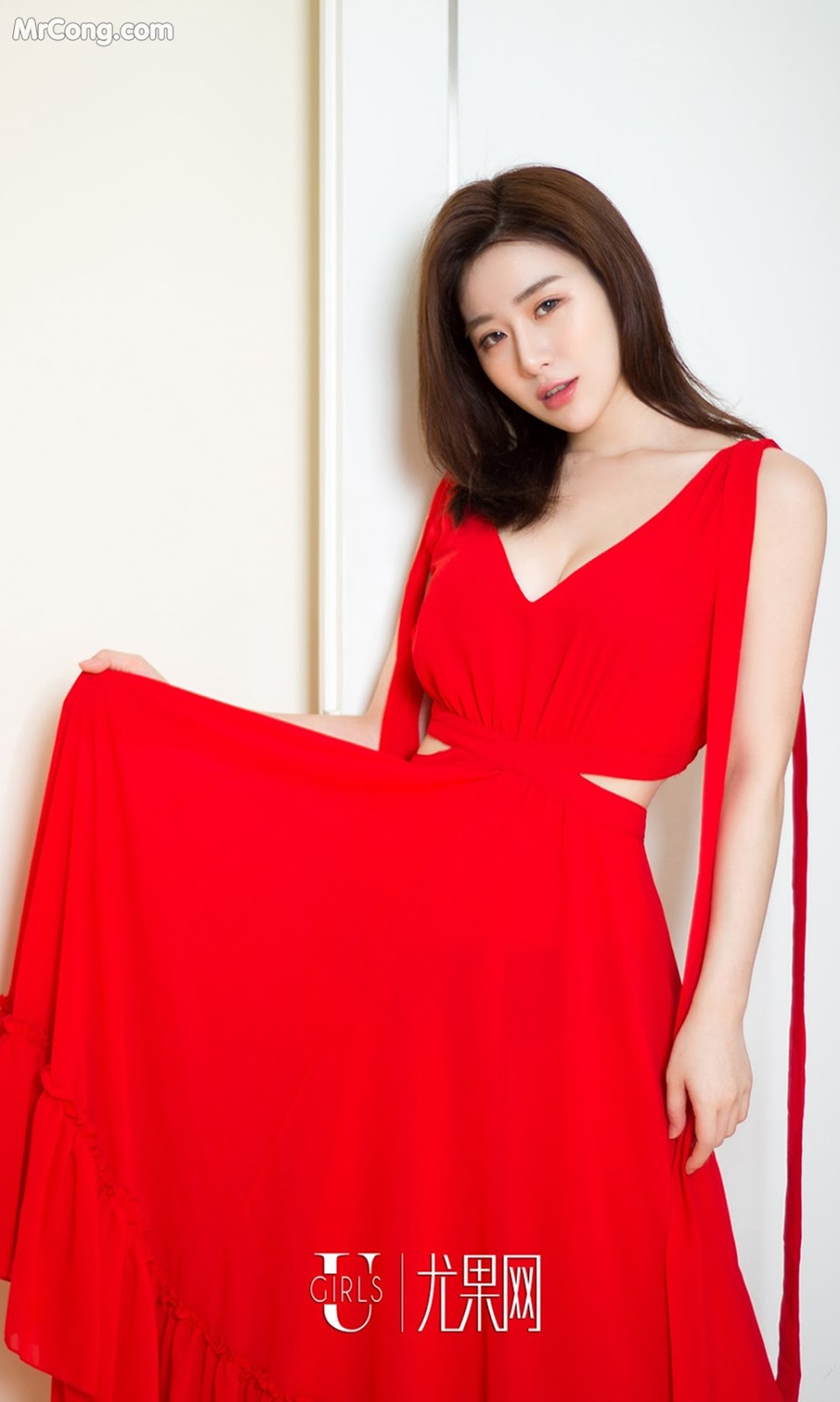 Image UGIRLS-Ai-You-Wu-App-No.999-Tian-Xin-MrCong.com-001 in post UGIRLS – Ai You Wu App No.999: Người mẫu Tian Xin (甜馨) (40 ảnh)