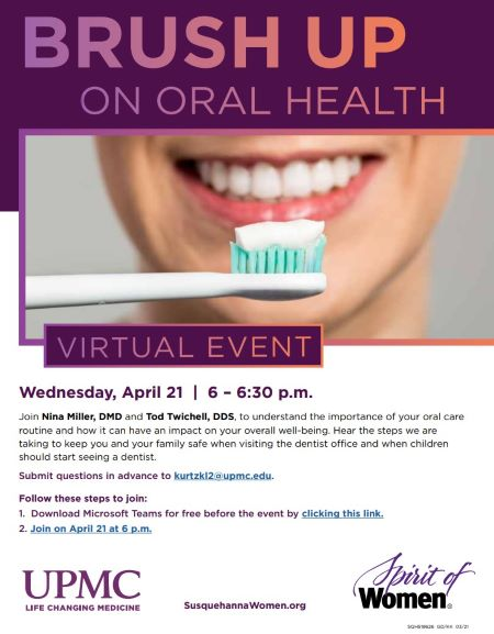 4-21 UPMC Oral Health Virtual Event