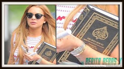 Islam, puasa, Lindsay Lohan telah mulai menimba ilmu, ilmu salat dan puasa, Al Quran, medsos, Berita Bebas, Ulasan Berita,