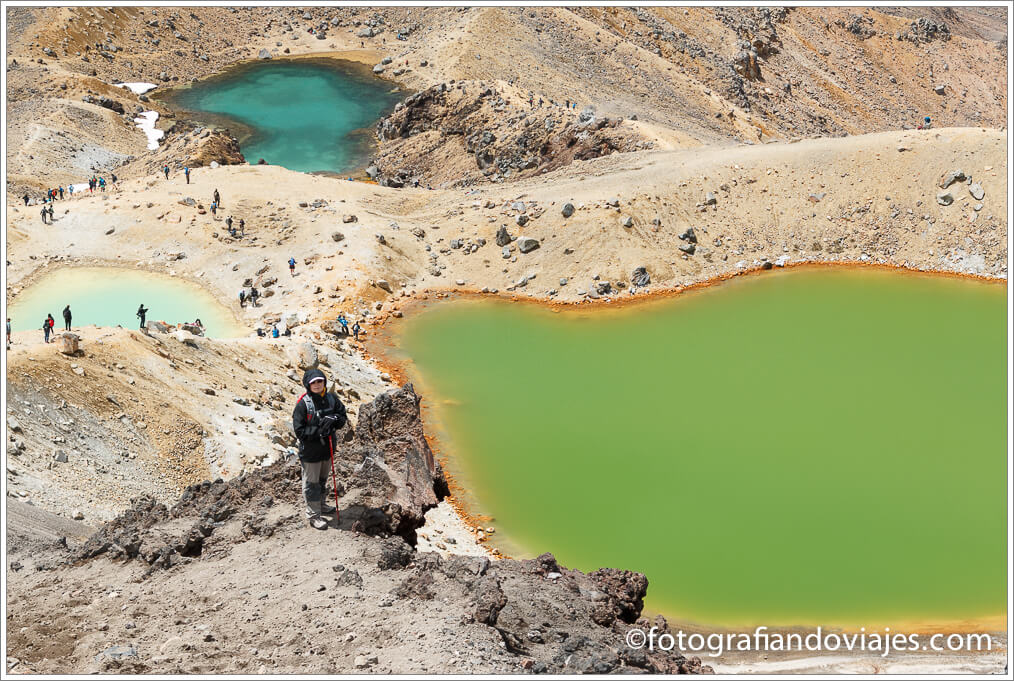 Emerald pools en Tongariro Alpine Crossing