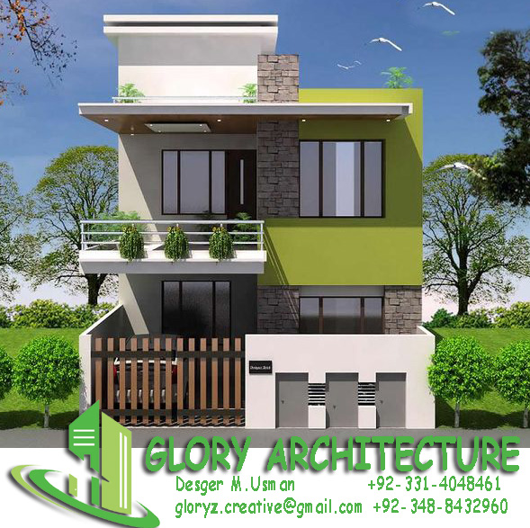 N Home Design Modern Front Elevation Ramesh : House plan elevation d view