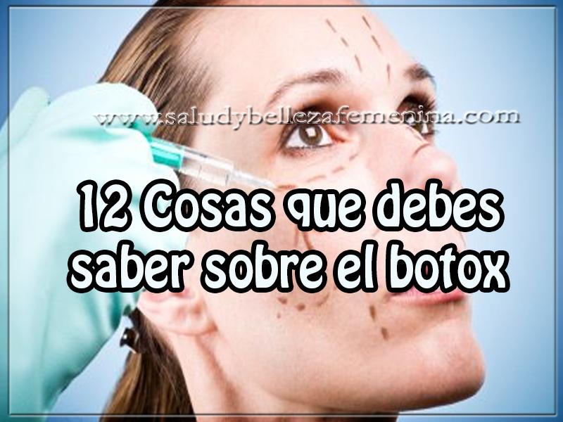 Cosas Que Debe Saber Sobre Los Tatuajes: 12 Cosas Que Debes Saber Sobre El Botox