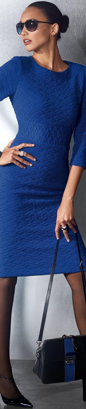 Madeleine Dress in Royal Blue