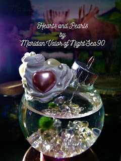 Hearts and Pearls by Maridan Valor; If this inspires you to make your own project, marimo or not let me know. I'd love to see what you come up with. If you copy this look please give credit, thank you.