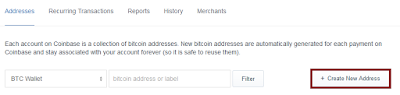Bitcoin Create New Address.