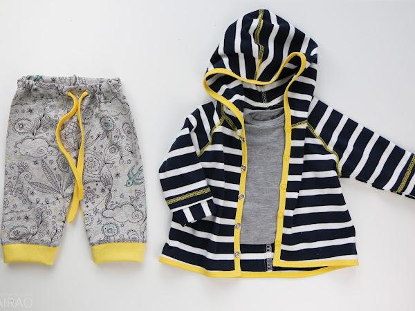 Babyset gelb - grau - blau
