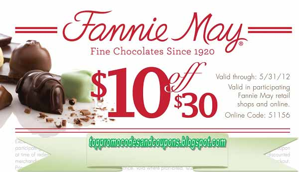 photo regarding Fannie May Coupons Printable called Absolutely free Promo Codes and Discount coupons 2019: Fannie Could Discount coupons