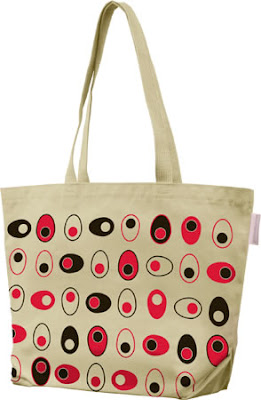 canvas tote bag with egg design