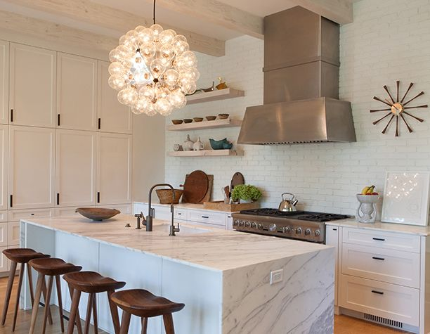 Shannon Bowers modern white kitchen interior design antiques