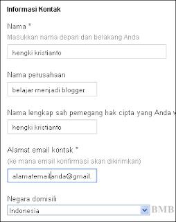 informasi kontak