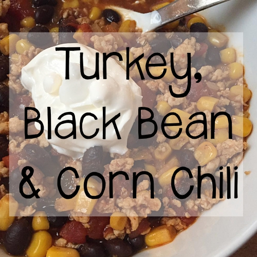 Turkey, Black Bean, & Corn Chili Recipe