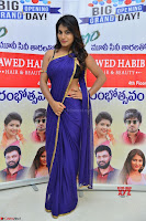 Actress Priya in Blue Saree and Sleevelss Choli at Javed Habib Salon launch ~  Exclusive Galleries 009.jpg