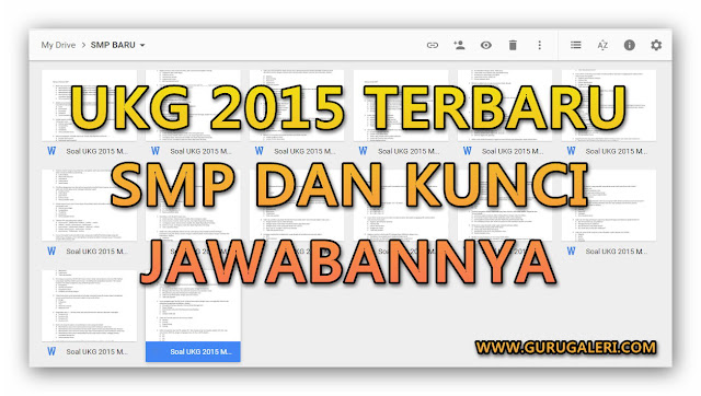 Kumpulan Soal UKG 2015 SMP terbaru Lengkap dengan Jawabannya