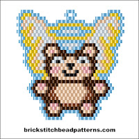Click to view the Angel Christmas Teddy Bear brick stitch bead pattern charts.