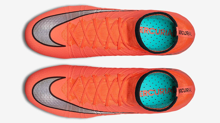 reputable site 3582e c3637 +1. The Bright Mango, Metallic Silver and Hyper Turquoise Nike Mercurial  Superfly ...