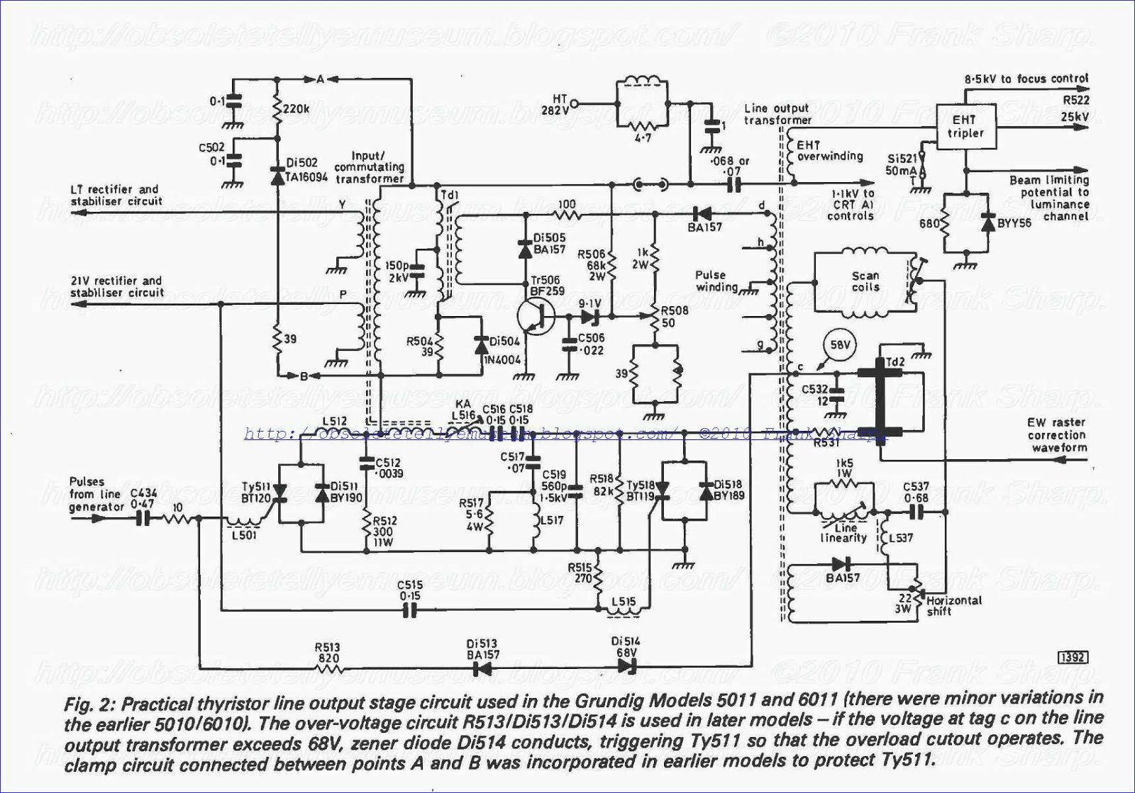telefunken ttv 290 circuit diagram