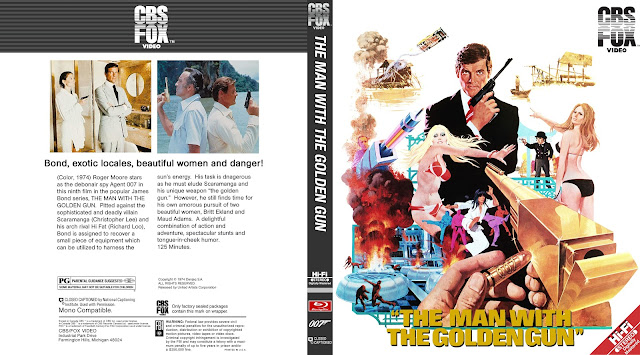 The Man with the Golden Gun Bluray Cover