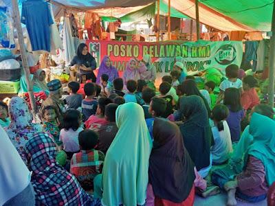 Relawan HMI Peduli Lombok Soroti Trauma Healing Pasca Gempa