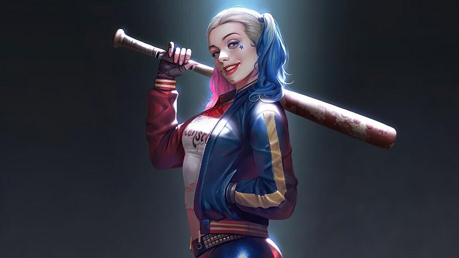 Harley Quinn, Baseball Bat, 4K, #4.2293