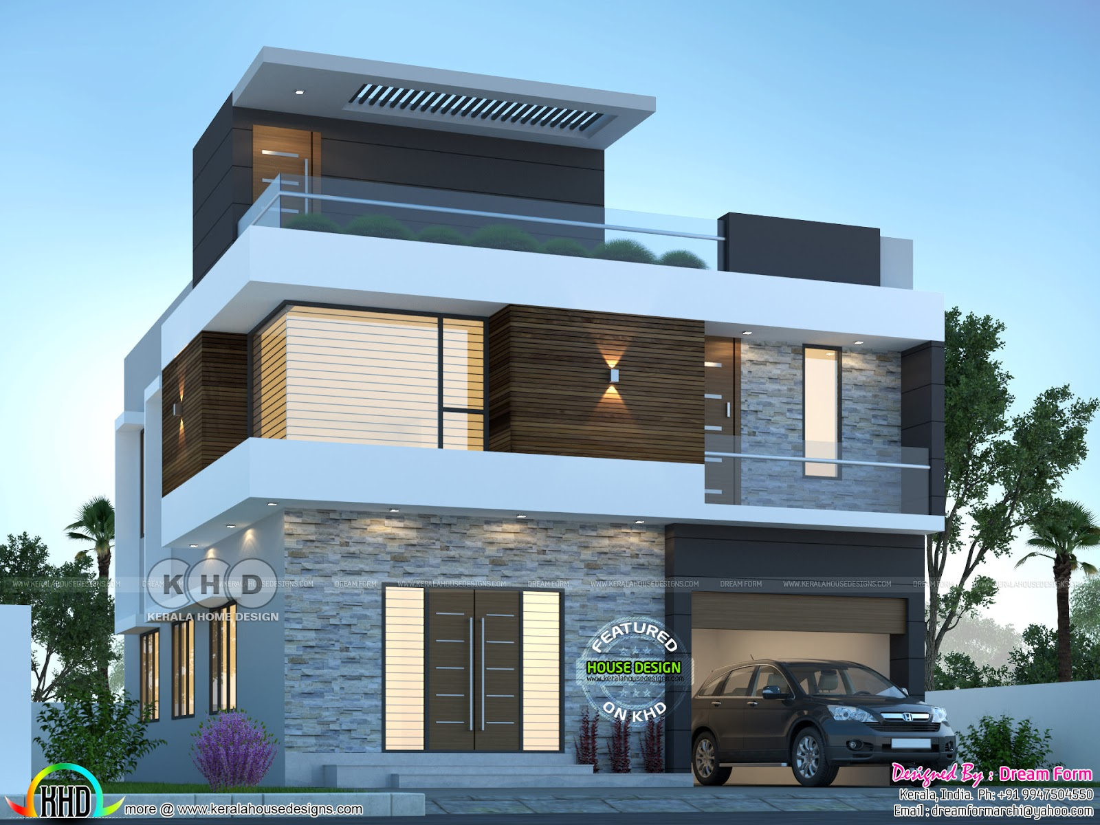 2306 sq-ft 4 bedroom modern house plan - Kerala home ...