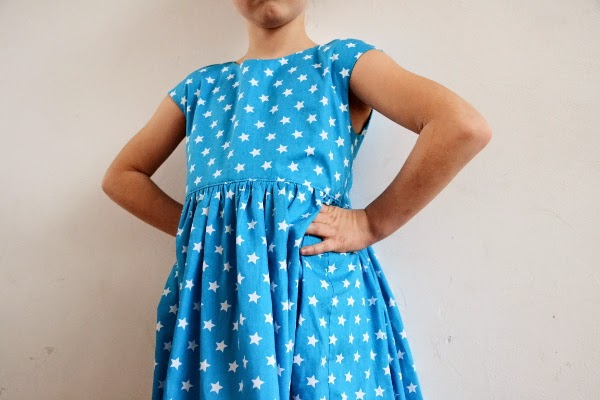 Caroline Party Dress. Pattern by MHC. Pienkel.com