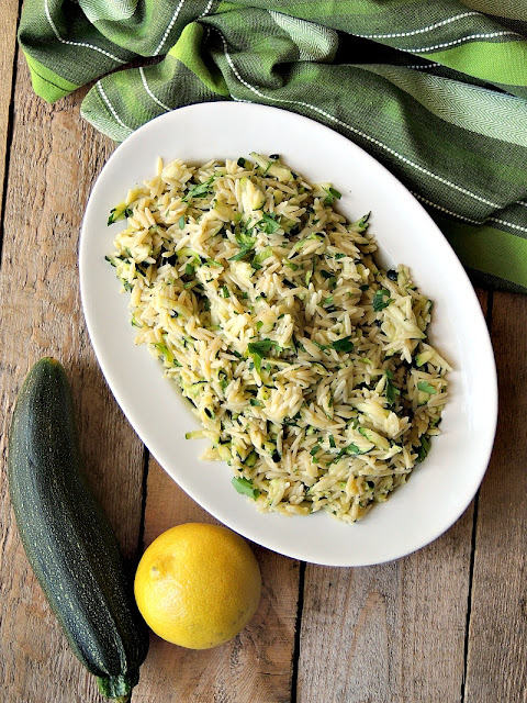 Lemony Orzo with Zucchini and Parmesan is a quick and easy side dish that only uses 5 ingredients. From www.bobbiskozykitchen.com