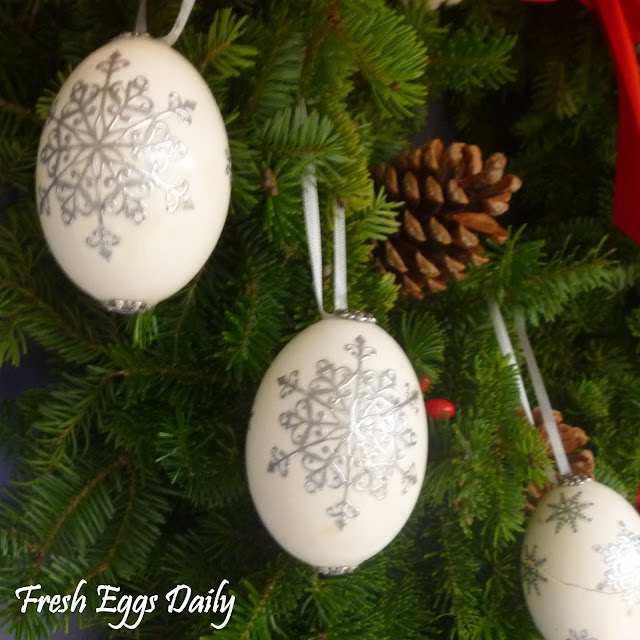 Blowing out eggs for crafts christmas ornaments holiday for Christmas ornaments sale