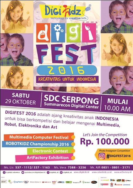 Event Anak Tangerang Digifest 2016 SDC Serpong
