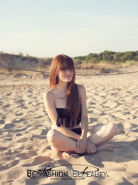Bikini con flecos para ir a la playa.Bikinis económicos, baratos, push-up.Romwe.