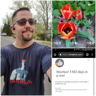 running 04.19.19 flower