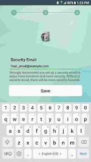 app lock password backup email