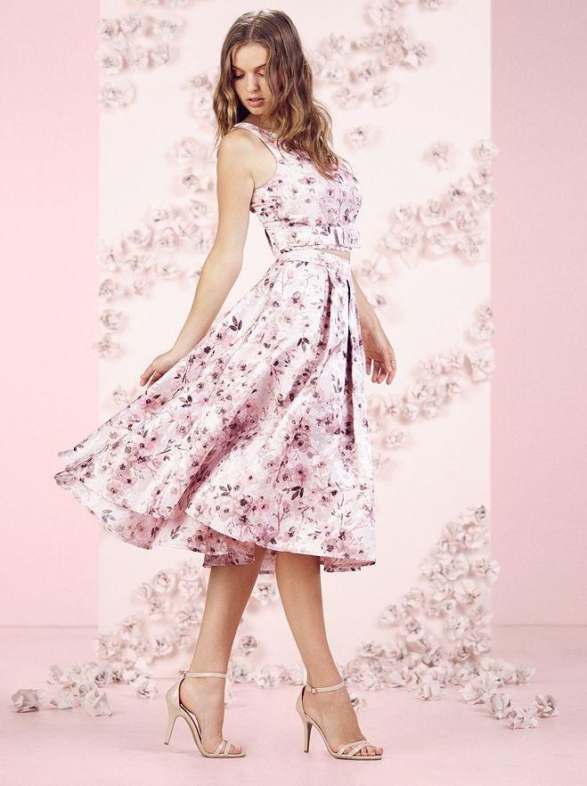 b4f4d13ae64349 LC Lauren Conrad Runway Collection Floral Jacquard Crop Top - Women s