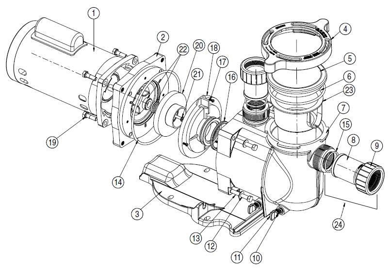 Moteur de piscine gallery of moteur v robot piscine for Moteur pompe piscine