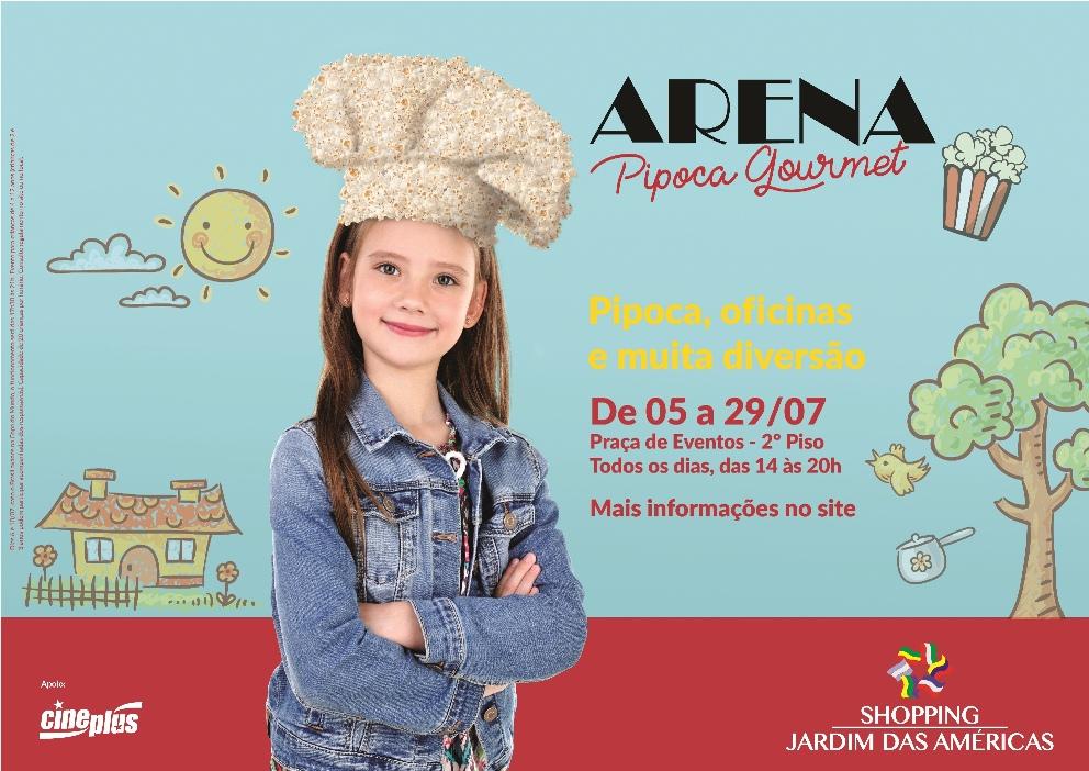 Arena Pipoca Gourmet - programação de férias em Curitiba - imagem divulgação