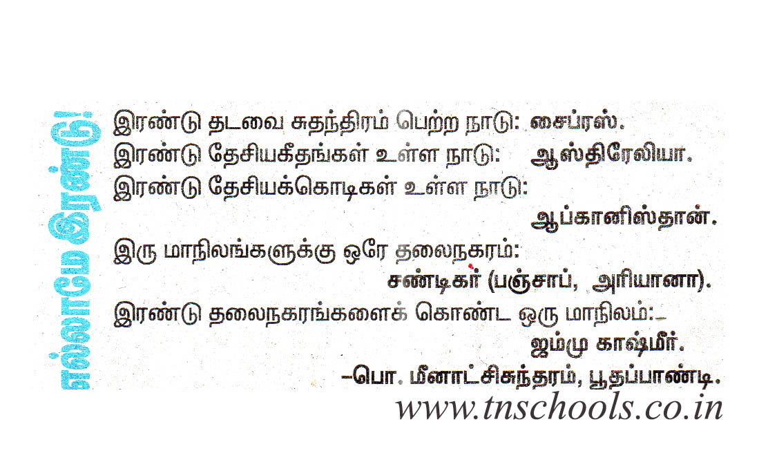 Tamil general knowledge questions and answers free download