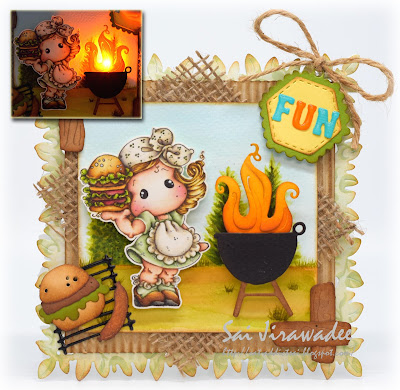 Magnolia Barbecue Party Tilda Light Up Card