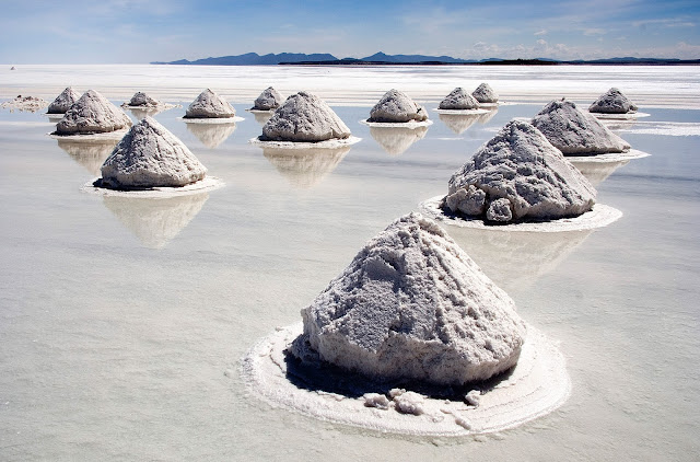 Salt Flats Reflection Bolivia