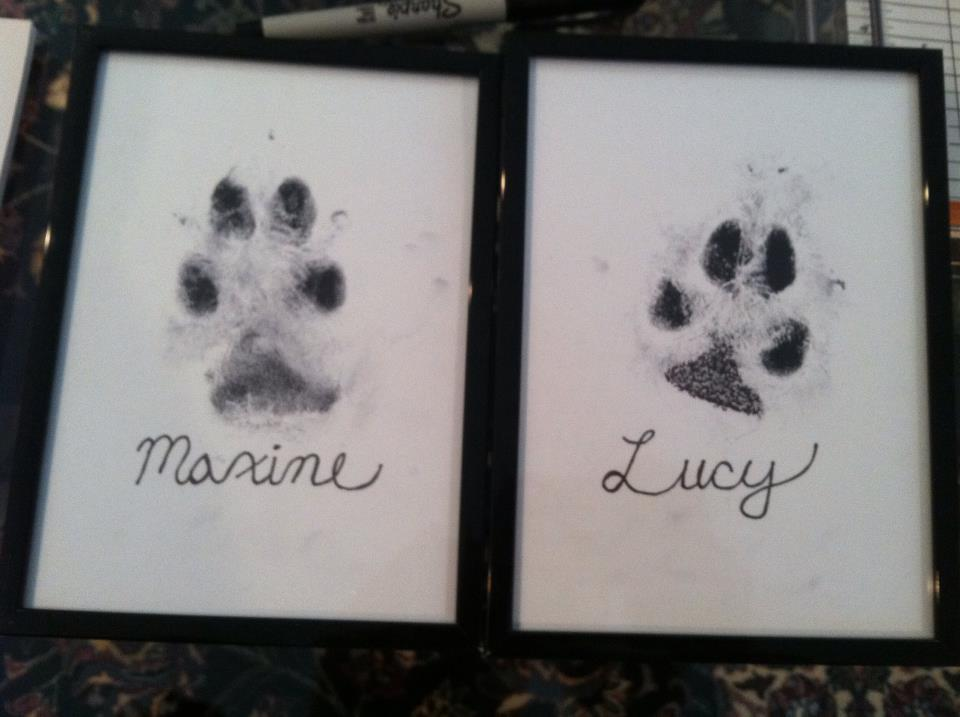 5236f87d9ed6 Eat, Craft, Love: Welcome/Framed Paw Prints