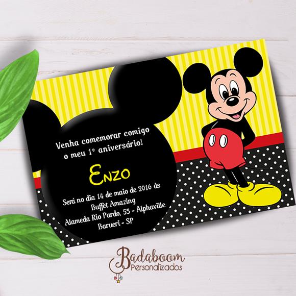 Mickey, convite, festa, infantil, para imprimir, whatsapp, arte, digital
