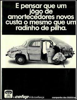 propaganda amortecedores Cofap - 1971, cofap anos 70, década de 70, Oswaldo Hernandez,