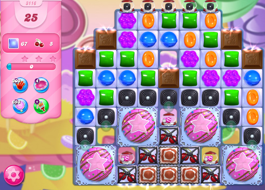 Candy Crush Saga level 3116