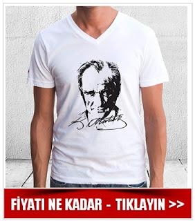 Atatürk Silueti Erkek Tişörtü