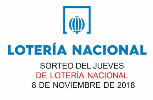 loteria nacional jueves 8 noviembre 2018