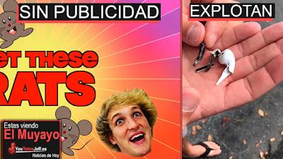 Logan Paul Electrocuta Ratas y Youtube actúa, Facebook Dislike, Airpods Error, Amazon | El Muyayo